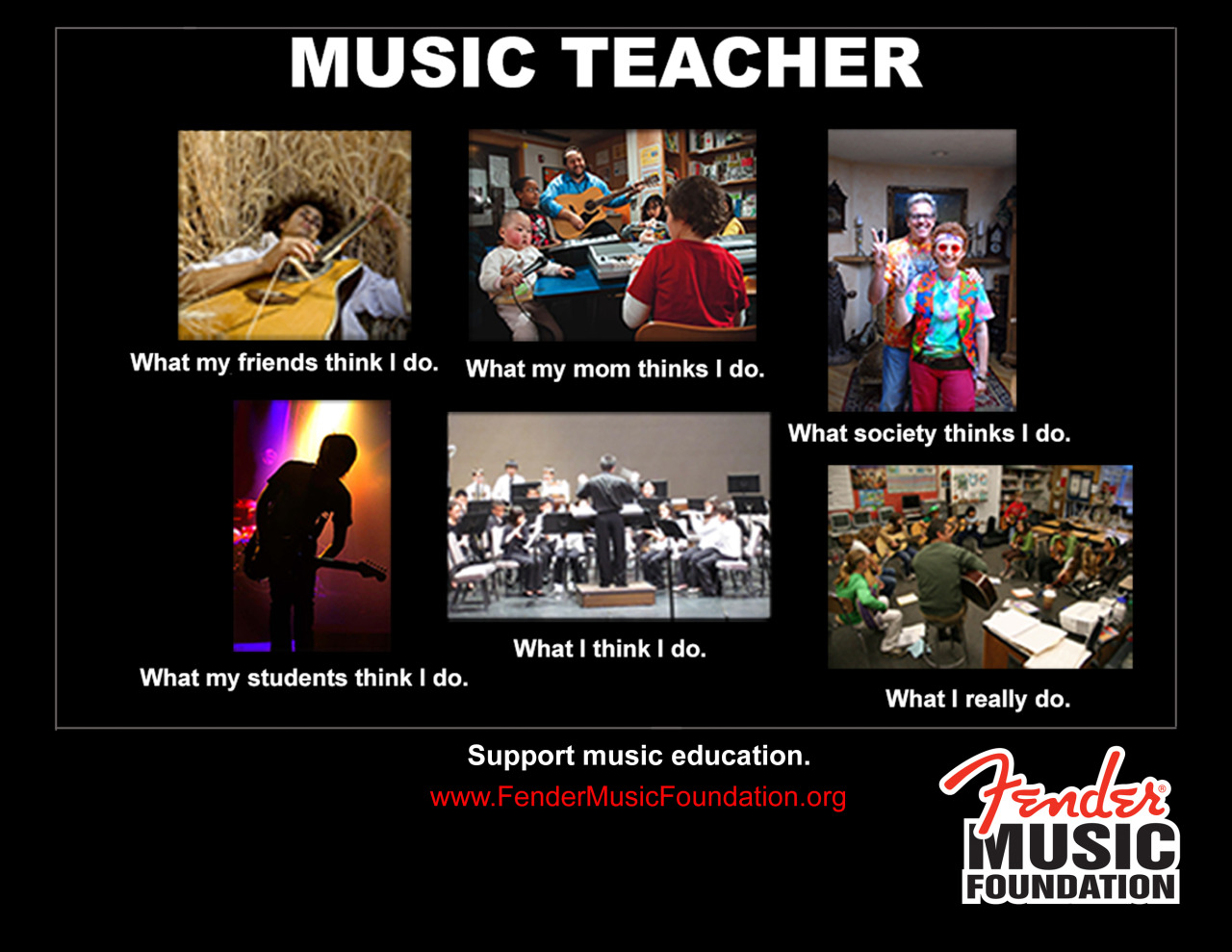 givemusiclife:  Share this meme if you support music educators!