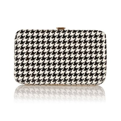 D is for DOGTOOTH || this cute dogtooth bag is by Topshop || Pair it with our Pug Necklace