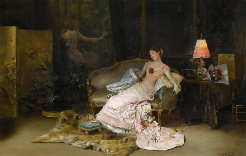 mondnymphe:  Rogelio de Egusquiza - A reverie during the ball 1879