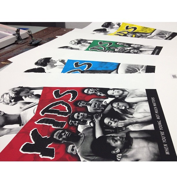 Silk Screened Kids Poster Series #kidsmovie #larryclark #screenprinting #printmaking #posters