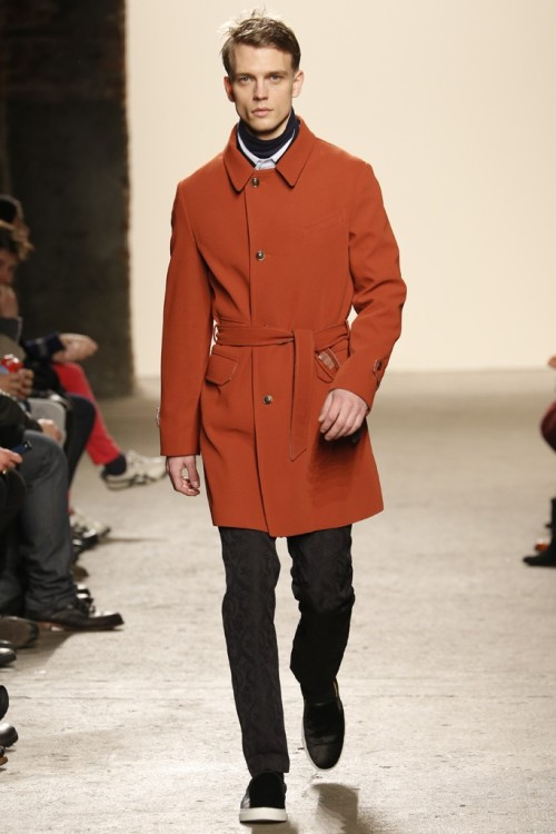New York Fashion Week: General Idea Men's RTW Fall 2013. Love that color.