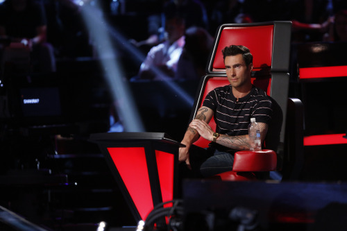 Adam Levine's got his serious face on going into tomorrow's Top 10!