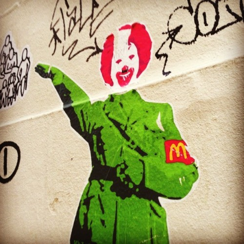 One graffiti artist must really hate McDonald's. Or Hitler.