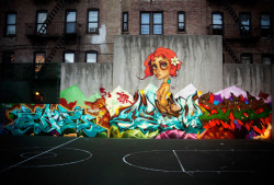 art-and-fury:  Tati Suarez, Askew, Enue & Jaes (Bronx - 2010)