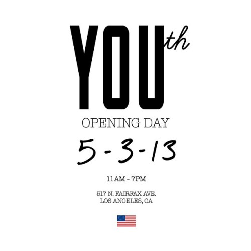 justbecoolgallery:  This Friday! Opening of the new @YOUthFairfax store! And the release of the all new #JUSTBECOOL collection! Available this in store and online at WWW.JUSTBECOOL.NET