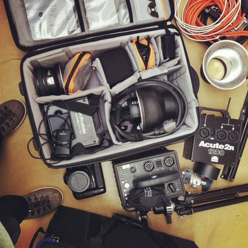 rikupihlanto:  #lowepro #profoto #pocketwizard #photogear @profoto (at Kalevankatu 31)