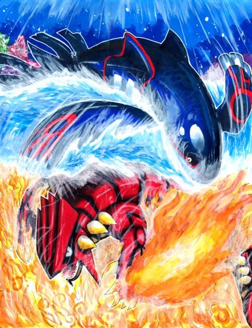 Kyogre VS Groudon by *matsuyama-takeshi