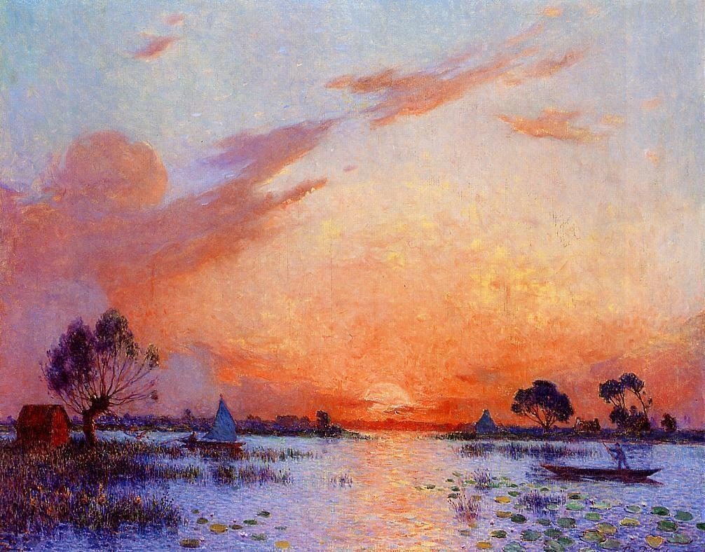 Ferdinand du Puigaudeau - Sunset in Briere 2