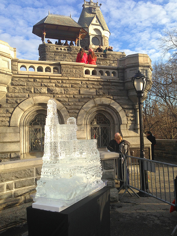 Ice castle at the Belvedere Castle