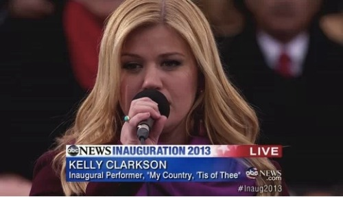 "Apparently, Beyonce lip-syncing at the Presidential Inauguration is still a ""controversy"". Kelly Clarkson is not coming to Beyonce defense saying that the entire ceremony is very ""nerve wrecking""."