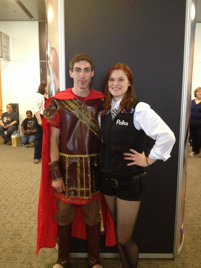 scificity:  http://scificity.tumblr.com Saw these awesome cosplayers at Dallas comic con! (Amy and Rory)