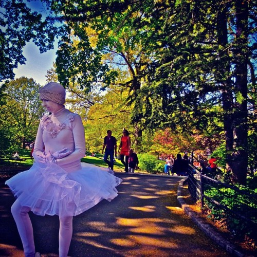 Performance Artist: Central Park NYC #centralpark #spring #artist #performanceart #park #nature #urban #newyorkcity #nyc #instamood #instanyc #dancer #cpk