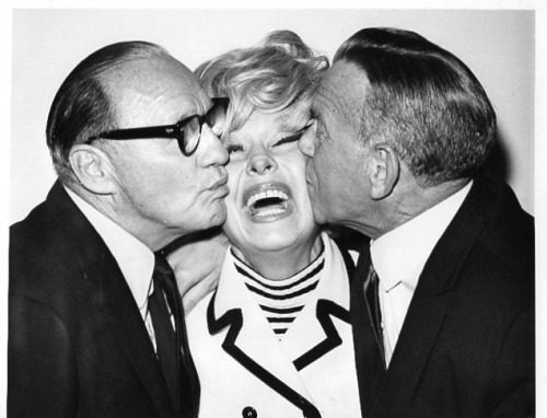 squarecutorpearshape:  Jack Benny, Carol Channing, and George Burns.