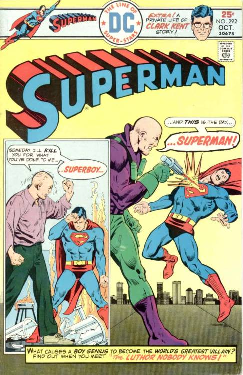 comicbookcovers:  Superman #292, October 1975, cover by Bob Oksner