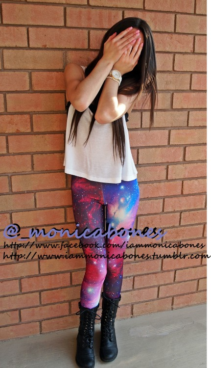 Come buy your own pair of galaxy leggings at my shop! Plenty styles to choose from & I also sell tons more amazing things :) ——> http://www.facebook.com/fashionfeverboutiquee