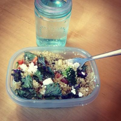 #kale + #quinoa for #lunch = #healthy #happy #ME 💚