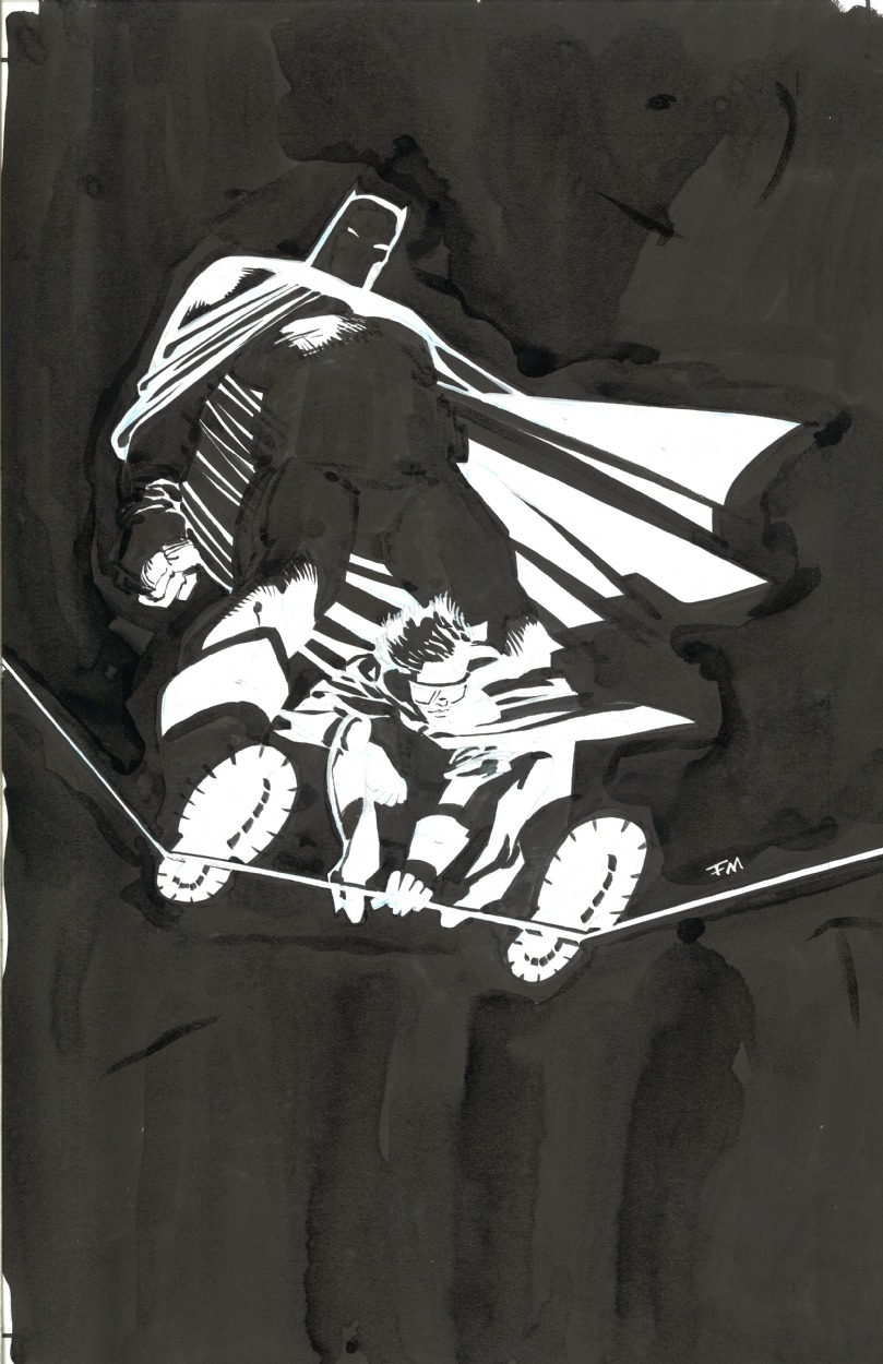 midtowncomics:  The Dark Knight Returns: 10th Anniversary dedication splash by Frank Miller