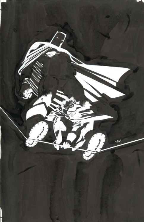 brianmichaelbendis:  The Dark Knight Returns: 10th Anniversary dedication splash by Frank Miller