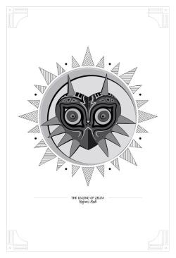 Greyscale Zelda Inspired Graphic Seal Prints  Taking inspiration from the stylistic and iconic imagery from different Zelda games, these…  View Post shared via WordPress.com