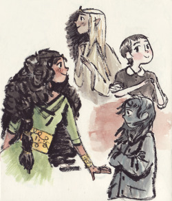 More ladies from the sketchbook.