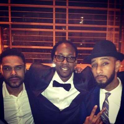 Maxwell, 2 Chainz + Swizz Beatz at Sunday's Hip-Hop Inaugural Ball in Washington D.C….[via Instagram]