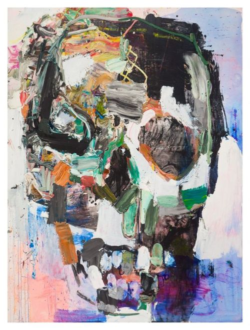 hijaktaffairs:  summer wheat skull, 2010 acrylic and oil on canvas