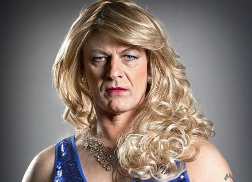 Ned, Starkly ravishing as a woman. Ever see this shot of Sean Bean in drag? Check out the context for the pic here.