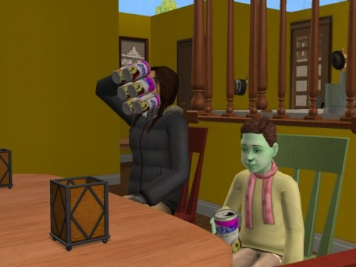 simsgonewrong:  I think his mom's sooo hungry… o.o""