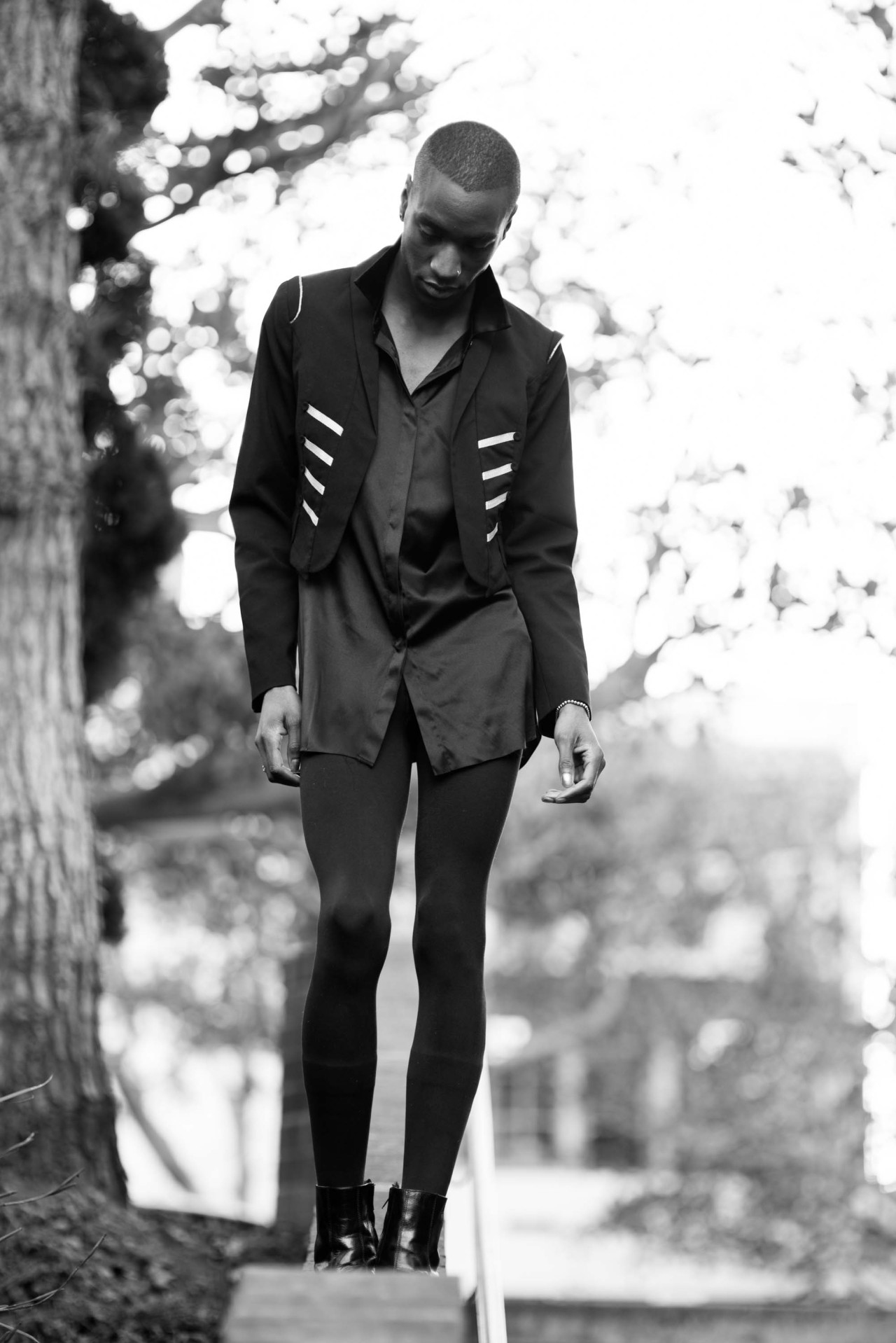 The all-black II. Styled by Dominique.Photographed by Philip.