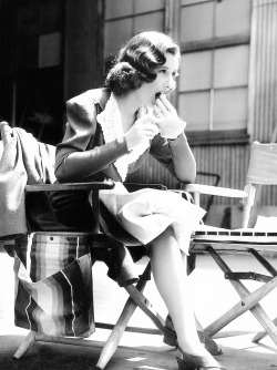mariedeflor:  Barbara Stanwyck photographed on the set of Golden Boy, 1939