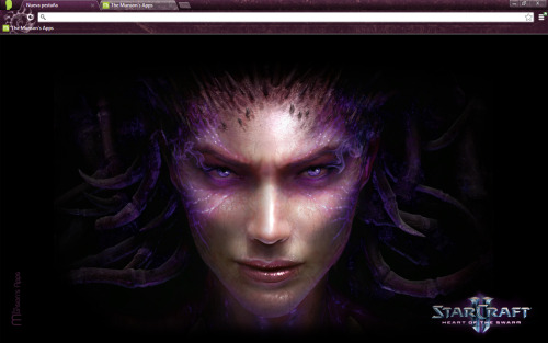 New Starcraft 2 Heart of Swarm Chrome Theme available here: http://themunsonsapps.blogspot.com/2013/03/starcraft-2-heart-of-swarm-chrome-theme.html