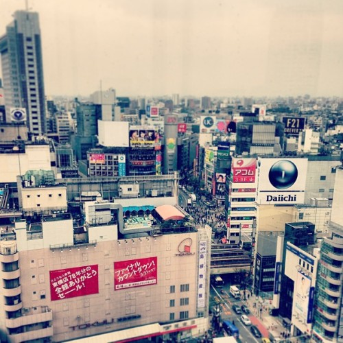 11 storeys above. The city looks grey.  (at 渋谷ヒカリエ (Shibuya Hikarie))