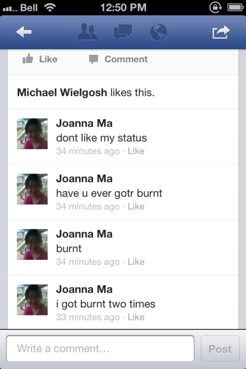 Don't like my status