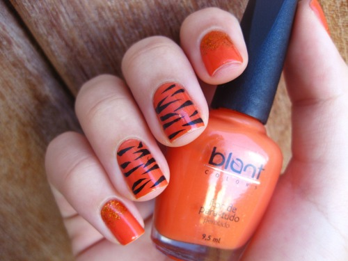 7: Tigre http://gabis-nails.blogspot.com.br/2013/03/desafio-animal-7-tigre.html Facebook