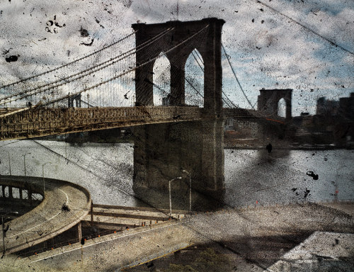 Amazing camera obscura projections of Brooklyn Bridge and Central Park, by Abelardo Morrell.