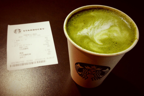 On a cold day, my order is always the same: a short green tea latte with single espresso and no syrup…   … so uncreative…