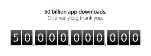 Apple's App Store reaches 50 billion downloads