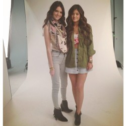 "jenner-news:  @pacsun:  ""The lovely @kendalljenner and @kyliejenner showing off a few pieces from their Kendall & Kylie Collection at today's shoot. #kandk4pacsun"""
