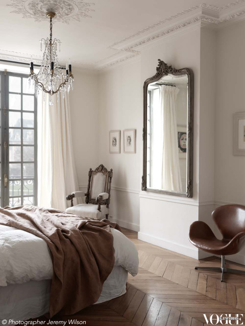 This apartment in Paris' oldest square, Place des Vosges, has been faithfully restored to its original classic beauty. From 'A sense of place' a story on page 87 of Vogue Living March 2013. Photograph by Jeremy Wilson.