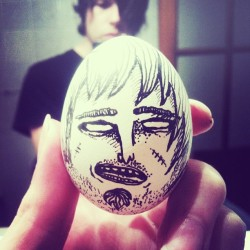 The One With The Egg. #themaninh  #handmade #illustration #egg #character