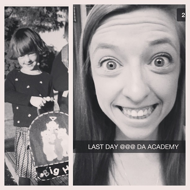 @madsmads17 first day @ da academy and last day @ da academy. WHOA! #tbt #sisters #BrookfieldAcademy #BA #snapchat #academy #brookfield #prep #graduation #hsgraduation @hayleykohls our little black sheep is all grown up! & heading to the U! #minnesota  (at Brookfield Academy)