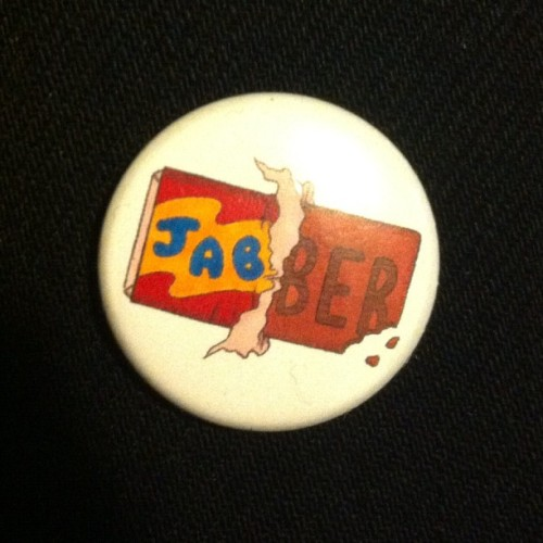 #jabber chocolate buttons in glorious color featuring artwork by @jeffmerchgirl  (at Dog Fart Alley)