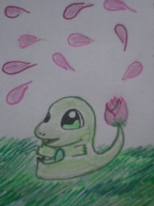 how I thought Charmander would look like if it were a grass type.