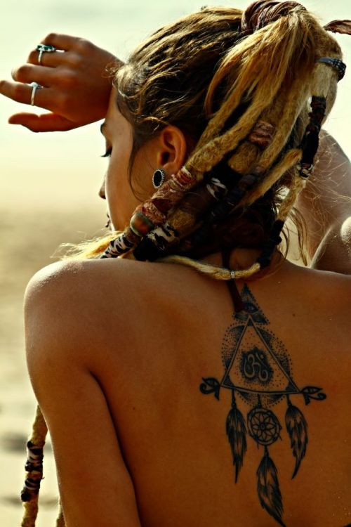 yourmindwiththesamegrace:  Beautiful tattoo and dreads