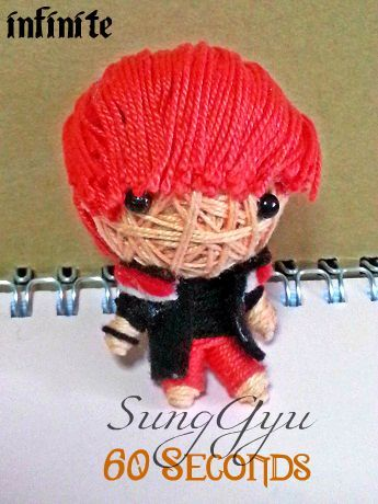 theknottyloft:  Infinite - 60 Seconds - SungGyu Mini String Doll
