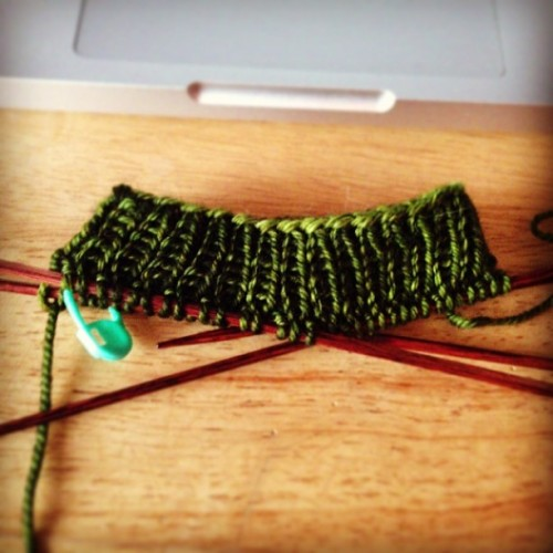 #knitting up beautifully.