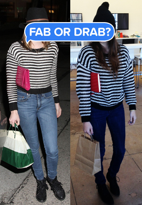 Who wore it better: Emma Roberts or this random chick in our office?