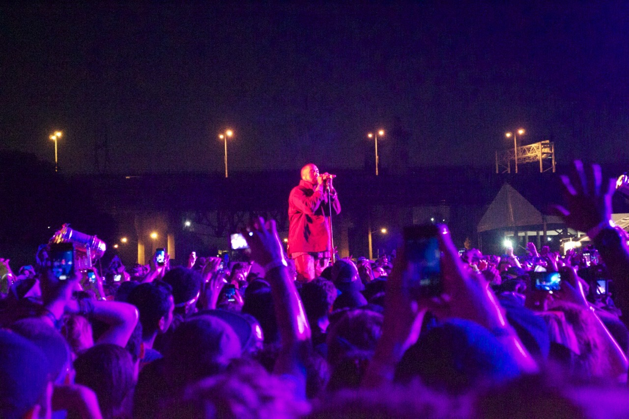 Kanye West at Governors Ball. Best time of my life.