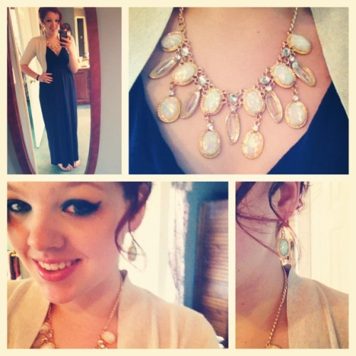the-redgirl-rosie:  Lil' bit fancy today. Opals and sparkles.