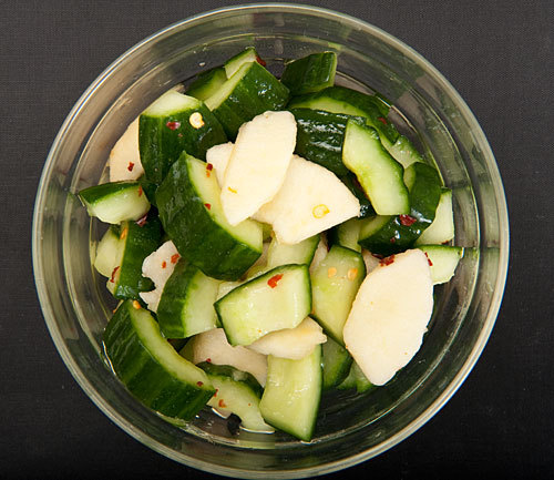 Cucumber and Nashi (Asian pear) Marinated Salad Raw Asparagus, Radish and Parmesan Salad Bento Sized Mini Cabbage Rolls  Quinoa Salad with Mint, Almonds and Cranberries  Herb Salad with Goat's Cheese Yummy looking recipes I want to try.